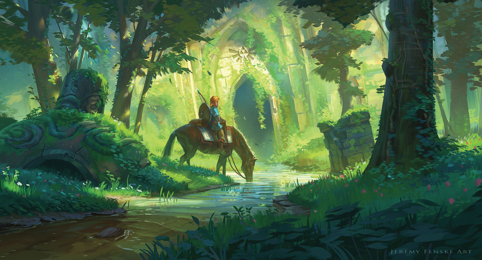 The Legend of Zelda BOTW , vue d'artiste